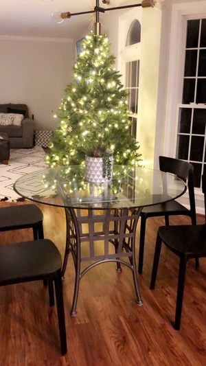 Glass top table, stand and 4 matching chairs for Sale in Reston, VA