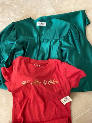 Graduation gown and tshirt for 5 dollars for Sale in Union City, CA