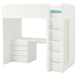Bunk twin loft bed with desk ( chair not included) for Sale in Oakland, CA