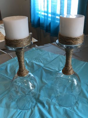 Partial Twine Wineglass Candle Holders for Sale in Riverton, UT