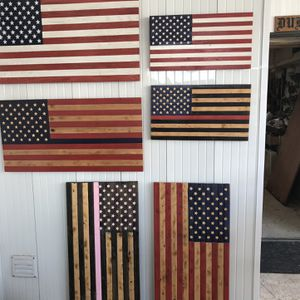 Wooden American Flags 45.00 Delivered In Fort Myers Area for Sale in Fort Myers, FL