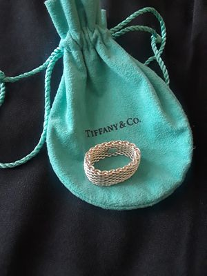 Authentic Tiffany & Co mesh ring .925 size 6 *Like new* for Sale in Oceanside, CA