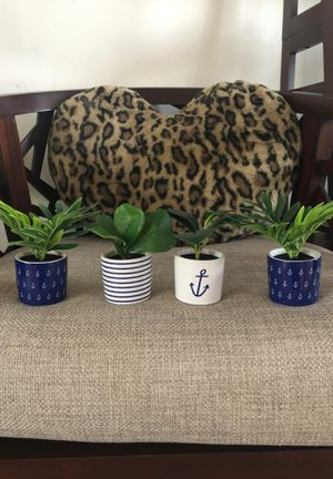 Beach themed fake plants for Sale in Oceanside, CA