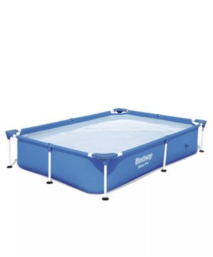 Bestway 7.25ft x 5ft x 17in Steel Pro Rectangular Above Ground Swimming Pool for Sale in Friendswood, TX