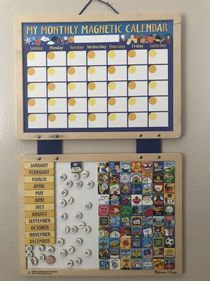Melissa & Doug Monthly Magnetic Calendar for Sale in Tampa, FL