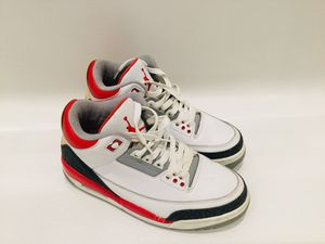 """Jordan 3 """"Fire Red"""" Size 7 for Sale in Clear Lake, IA"""
