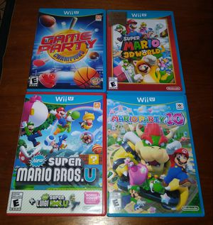 Nintendo Wii U games Mario Party 10 Super Mario 3D World Game Party for Sale in Chicago, IL