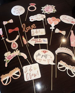 Bridal Shower Photo Booth Props for Sale in Miami, FL