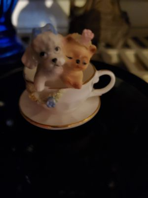 Napcoware bone china miniature 2 puppies in a cup for Sale in Tacoma, WA