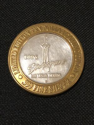 A collectible 1996 .999 fine silver 1 Troy oz. 10 dollar coin for Sale in Vacaville, CA