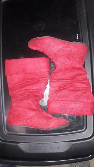 Girls red boots for Sale in Spokane, WA