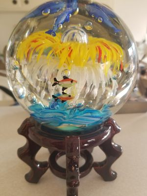 Home decoration glass ball with sea life inside for Sale in Upland, CA