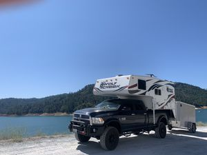 2018 Northwood WolfCreek 850 4 Season truck camper and 5x8 Wells Cargo Utility Trailer for Sale in Bellevue, WA