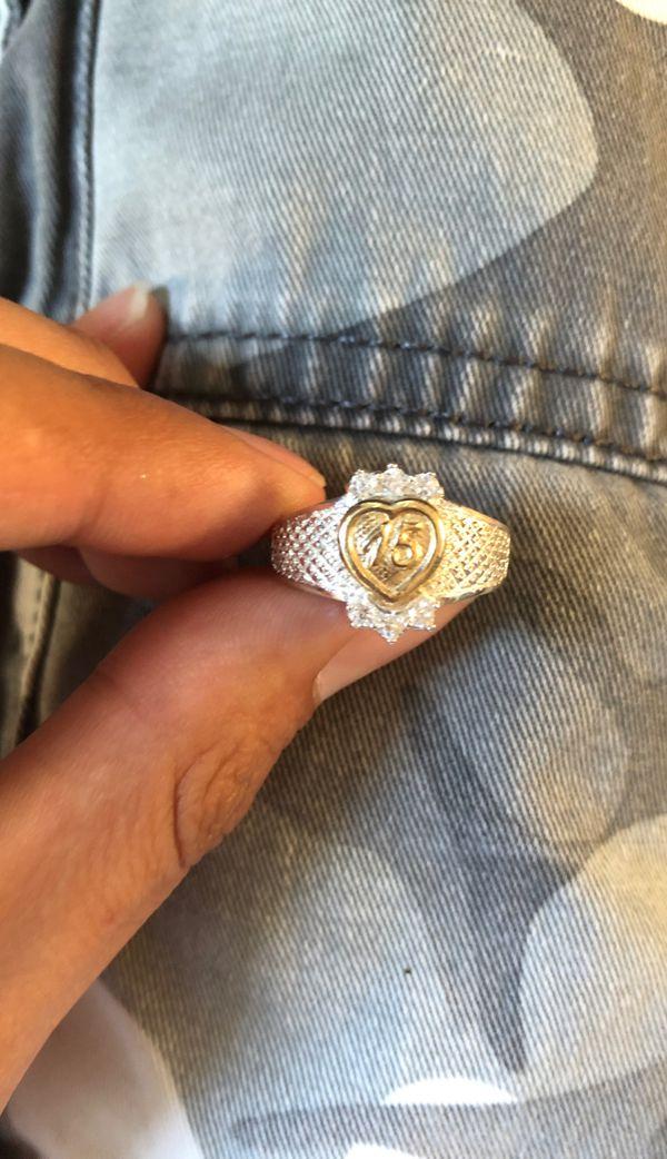 925 Silver Women's 15 ring size 9