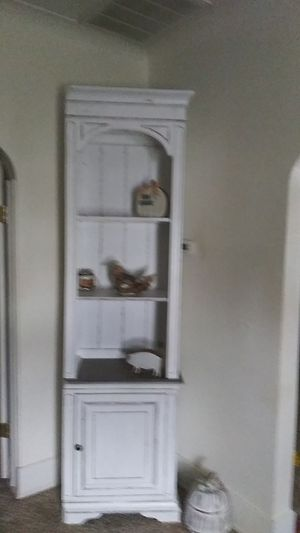 2 piece farmhouse hutch with light 7ftHx23inL for Sale in Toledo, OH
