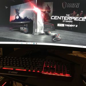 "MSI MPG Trident 3 10th w/ (27"" Curved Monitor 165hz RefreshRate) for Sale in Phoenix, AZ"