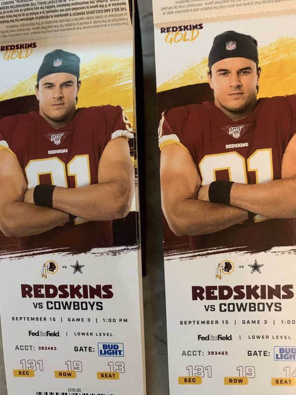 Tickets - Skins vs Cowboys Game