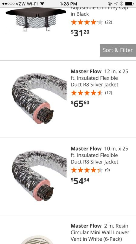 f8ac4de079c1 Master Flow 12 in. x 25 ft. Insulated Flexible Duct R8 Silver Jacket ...