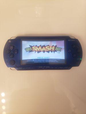 Modded PSP BLUE w/ over 1000 Games (PSP, PS1, Sega Genesis, N64, Gameboy Color & Advance and Super Nintendo Games) for Sale in Riverside, CA