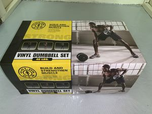 Gold's Gym Vinyl Dumbbells Set, 40 lbs for Sale in Akron, OH