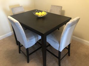 Modern Counter Height Dining Table Set - Dark Charcoal Grey/Black for Sale in Warner Robins, GA