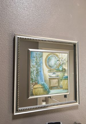 Wall painting with mirror border for Sale in Portland, OR