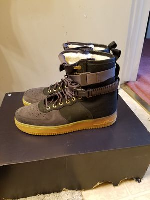 Nike Air Force 1 PRM black grey noir size 12 for Sale in San Leandro, CA