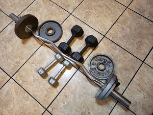 Curl bar Weight for Sale in Los Angeles, CA