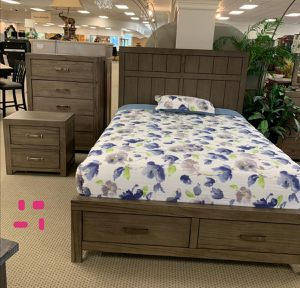 Arcadia Gray Storage Platform Bedroom Set | B5600 Queen and King size bed frame Dresser Mirror Nightstand for Sale in Houston, TX