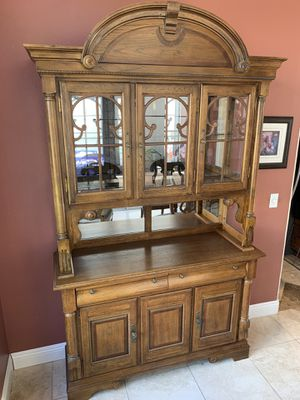 Solid Wood Hutch / China Cabinet for Sale in Upland, CA