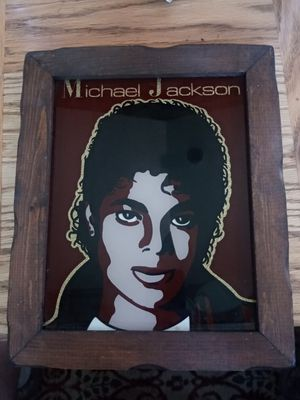 Michael Jackson Thriller Era Vintage Glass Framed Wall Art for Sale in Tumwater, WA