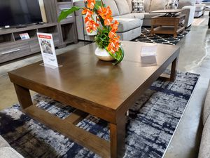 Ashley Furniture Brown Rectangular Coffee Center Table for Sale in Santa Ana, CA