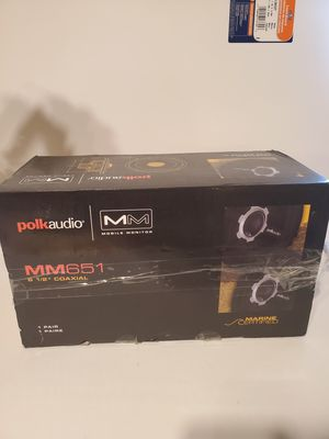 "Pair of Polk Audio MM651 6.5"" 2 Way Boat Marine 200W Audio Stereo Speakers NEW! for Sale in Orange, CA"