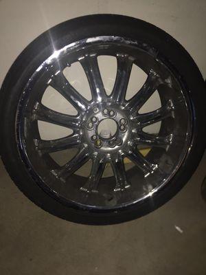 "20"" rims 5 lug universal lanvigator tires 245/35ZR20 95 W XL for Sale in Denver, CO"