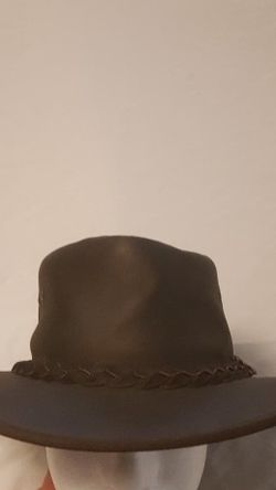 BC Hats OUTBACK Steer Hide Leather Hat Australia Size XL 7 3/4 - 7 7/8 Brown By Bill Conner for Sale in Everett,  WA