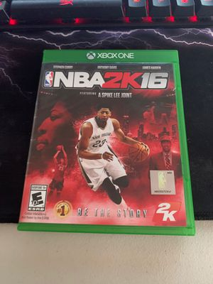 NBA 2k 16 for Xbox one for Sale in Dublin, OH