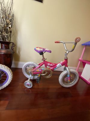 Barbie bicycle with training wheels $10 for Sale in Vero Beach, FL