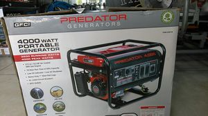 Predator generator 4000 Watts 3200 running Watts 4000 peak Watts like new open box for Sale in Fort Lauderdale, FL