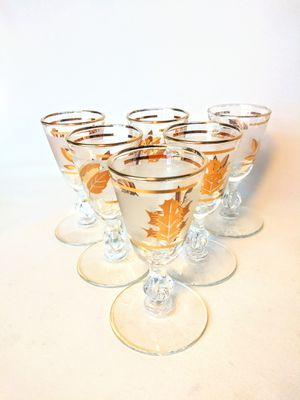 Mid Century Gold Leaf Glasses for Sale in Buffalo, NY
