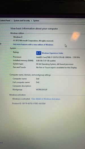 Dell Laptop for Sale in Deerfield, OH