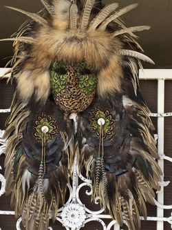 Handmade Feather Headdress Mask $200.00 OBO for Sale in Bakersfield,  CA