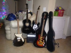 First Act guitars and bass and amp for Sale in Las Vegas, NV