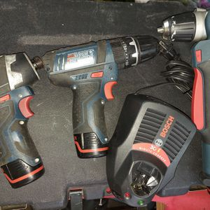 Bosh 12v 3 Drills, 3 Batteries And Charger for Sale in Houston, TX