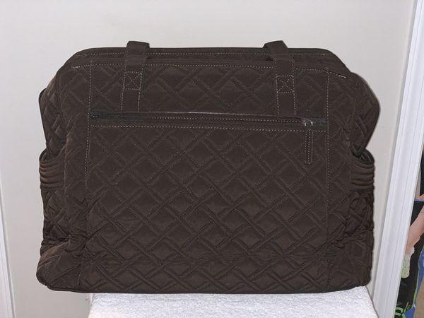 Vera Bradley Large Diaper Bag, Brown Quilted