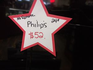 "philips 24"" Tv $52 for Sale in Oak Park, IL"