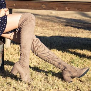 LAST PAIRS Tan Suede Boots Over knee for Sale in Ontario, CA