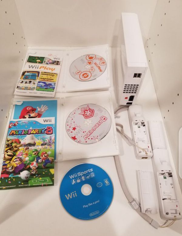 Nintendo Wii RVL-001 Mario party 8&GameCube Compatible Tested 2