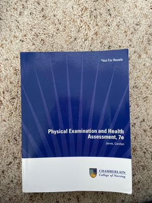 Chamberlain Health Assessment Book for Sale in San Antonio, TX