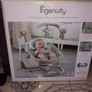 Ingenuity Convertme Swimg 2 Seat Portable Swing for Sale in Houston, TX