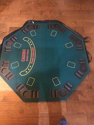 Poker table top & chips for Sale in Atlanta, GA